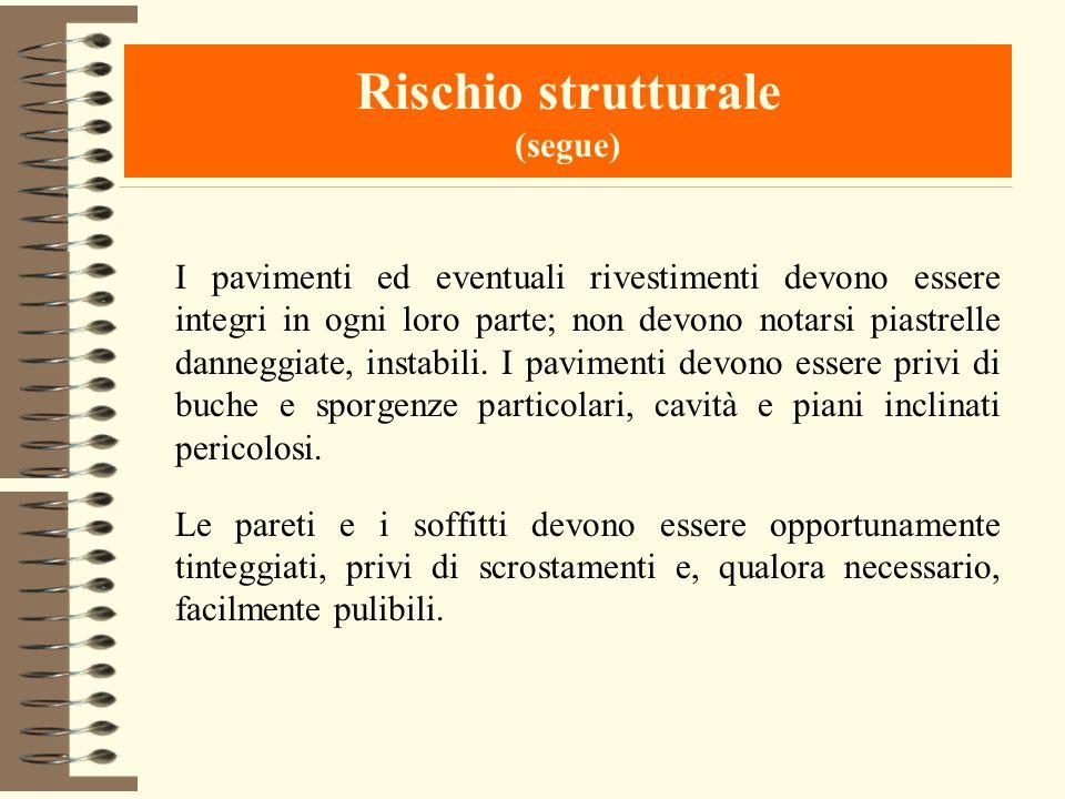 Rischio strutturale (segue)