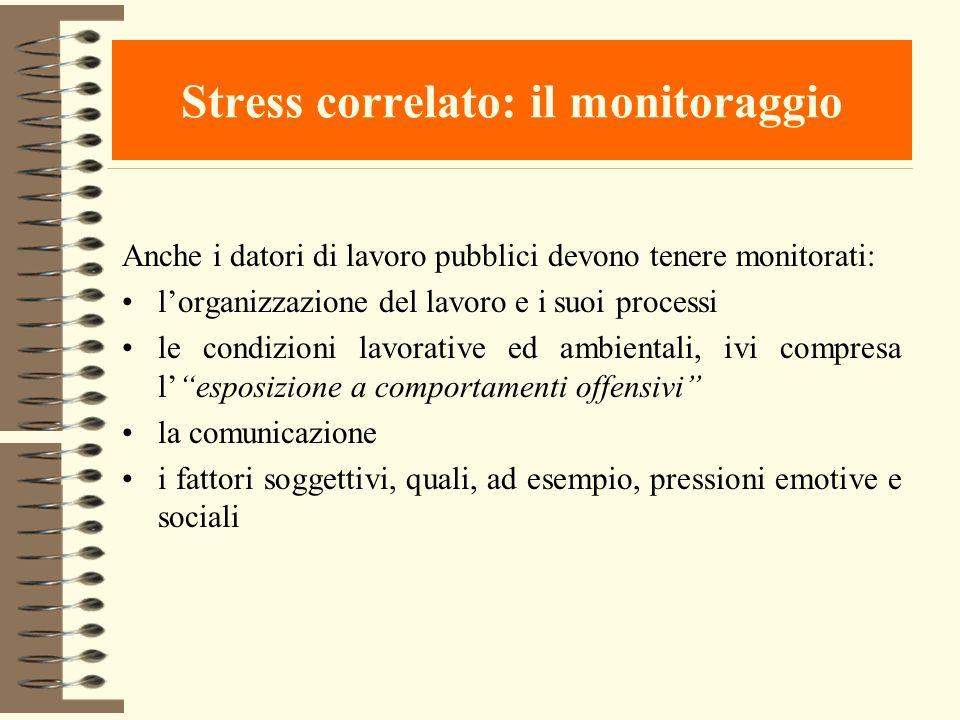 Stress correlato: il monitoraggio