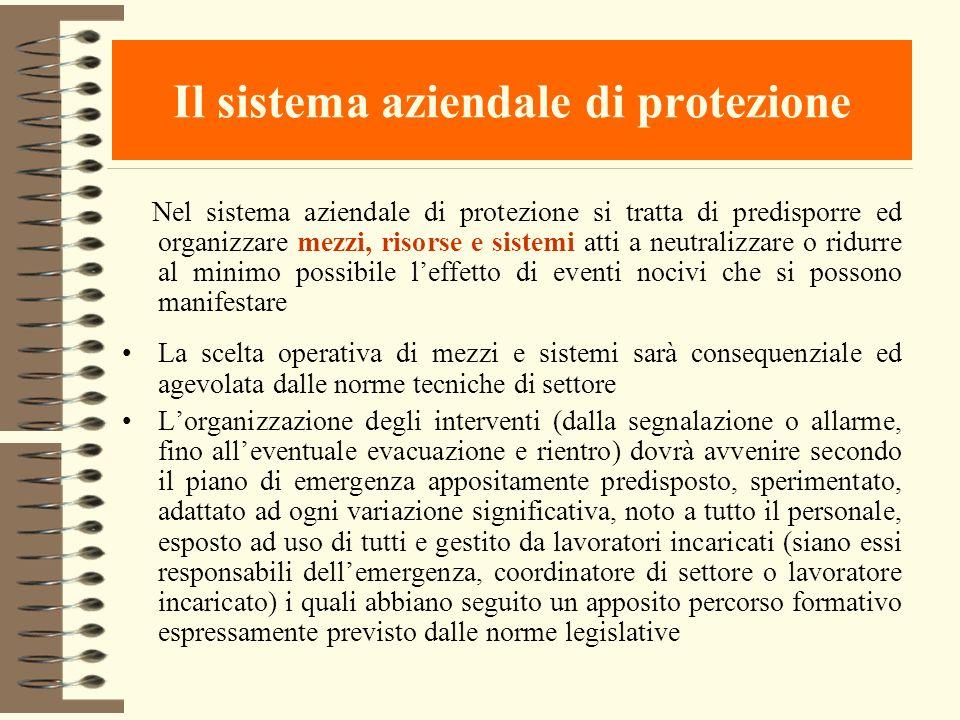 Il sistema aziendale di protezione