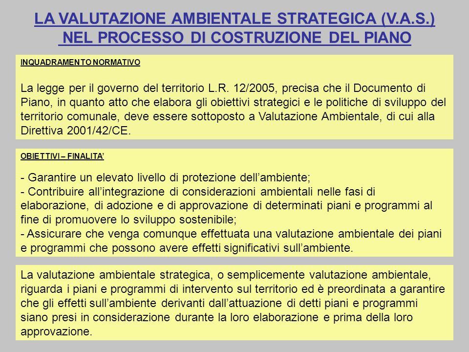 LA VALUTAZIONE AMBIENTALE STRATEGICA (V. A. S