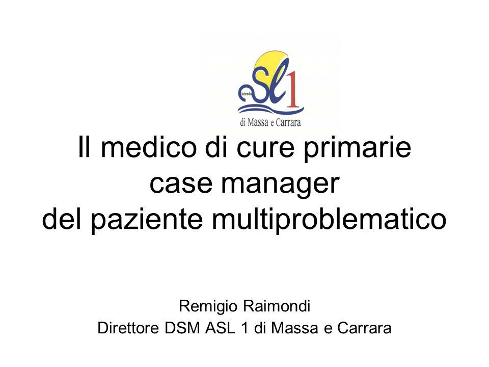 Il medico di cure primarie case manager del paziente multiproblematico