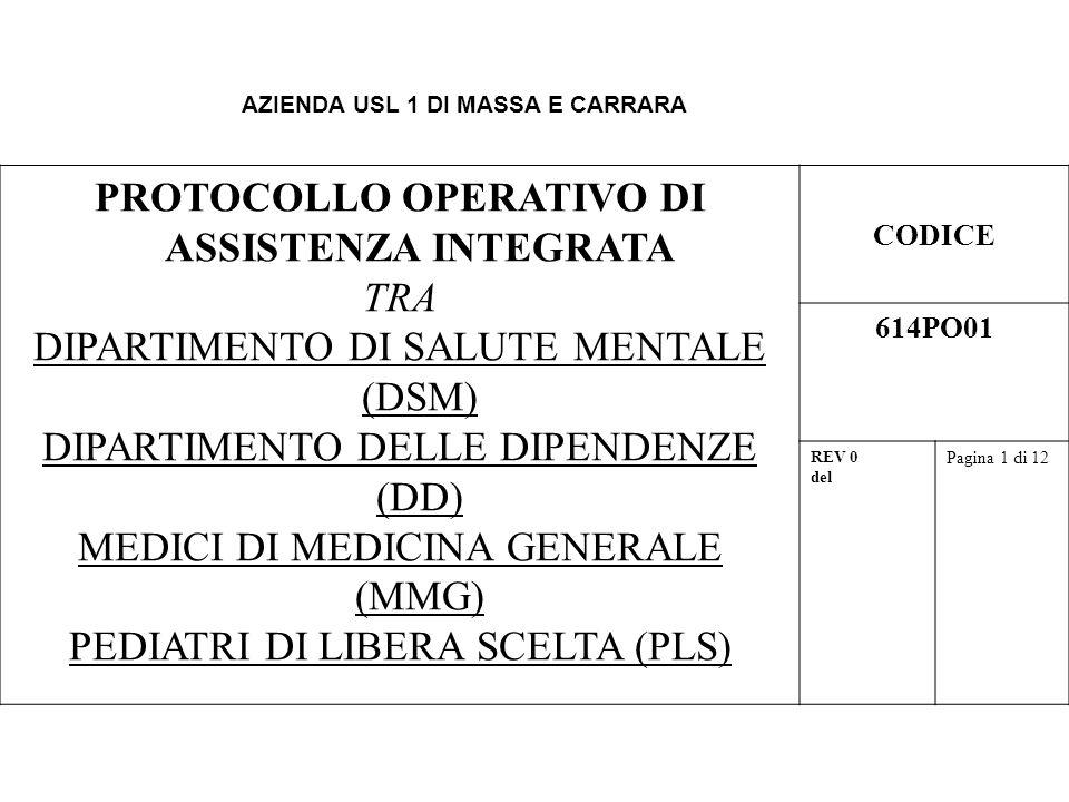 PROTOCOLLO OPERATIVO DI ASSISTENZA INTEGRATA TRA