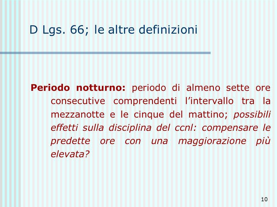 D Lgs. 66; le altre definizioni