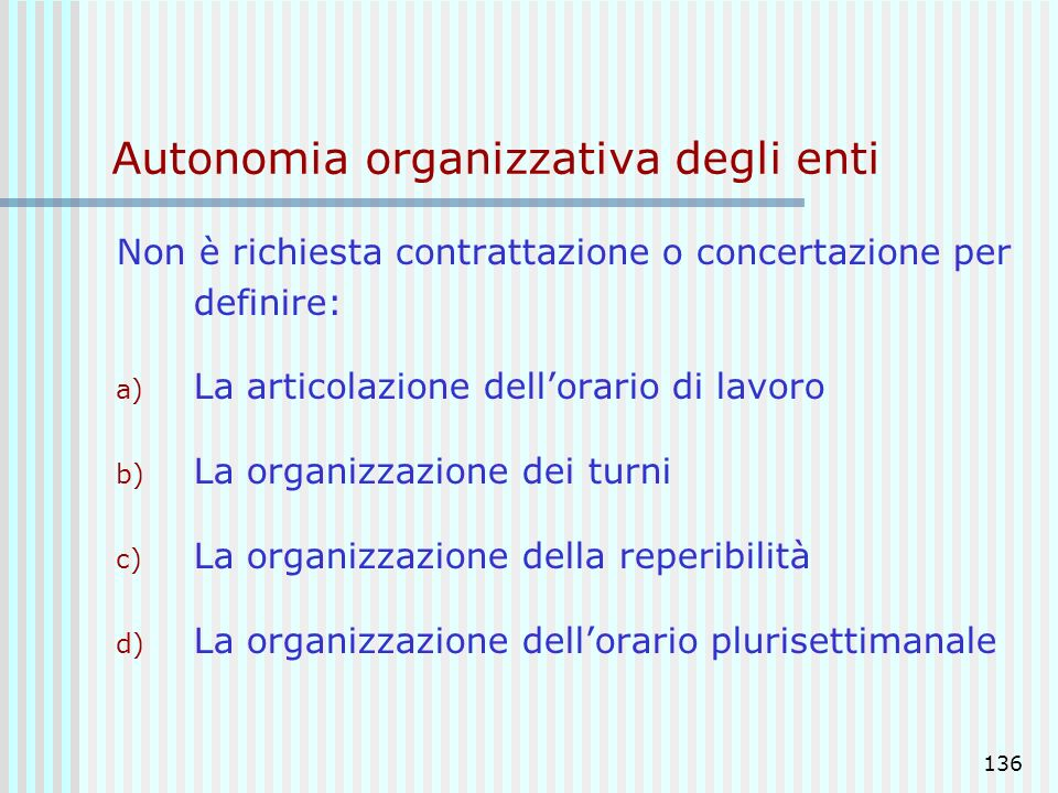 Autonomia organizzativa degli enti