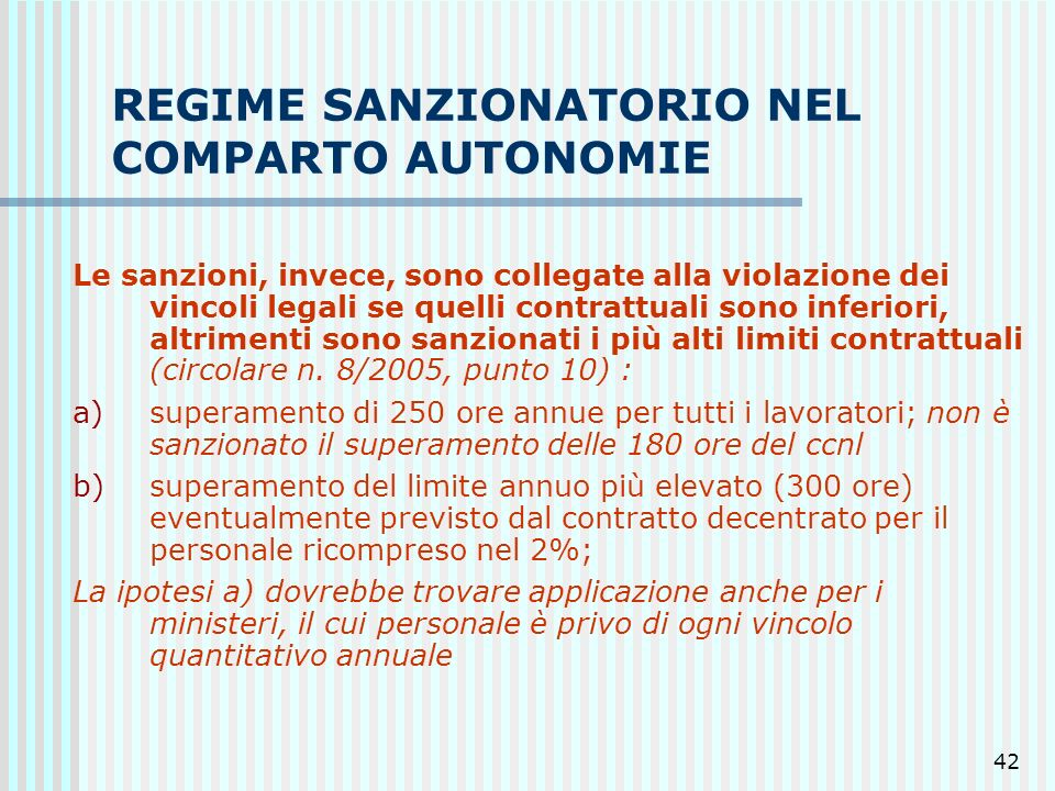 REGIME SANZIONATORIO NEL COMPARTO AUTONOMIE