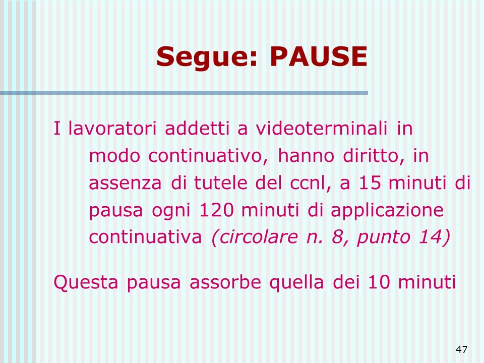 Segue: PAUSE