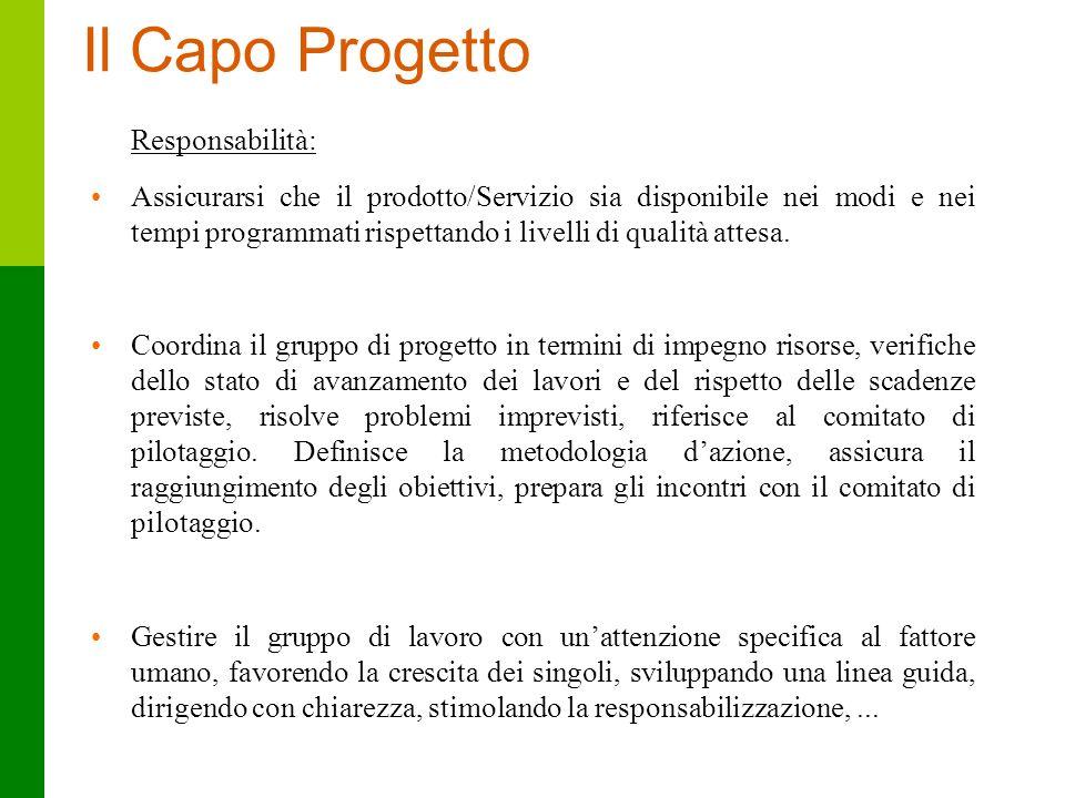 Il Capo Progetto Responsabilità: