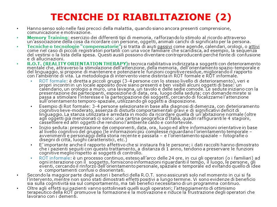 TECNICHE DI RIABILITAZIONE (2)