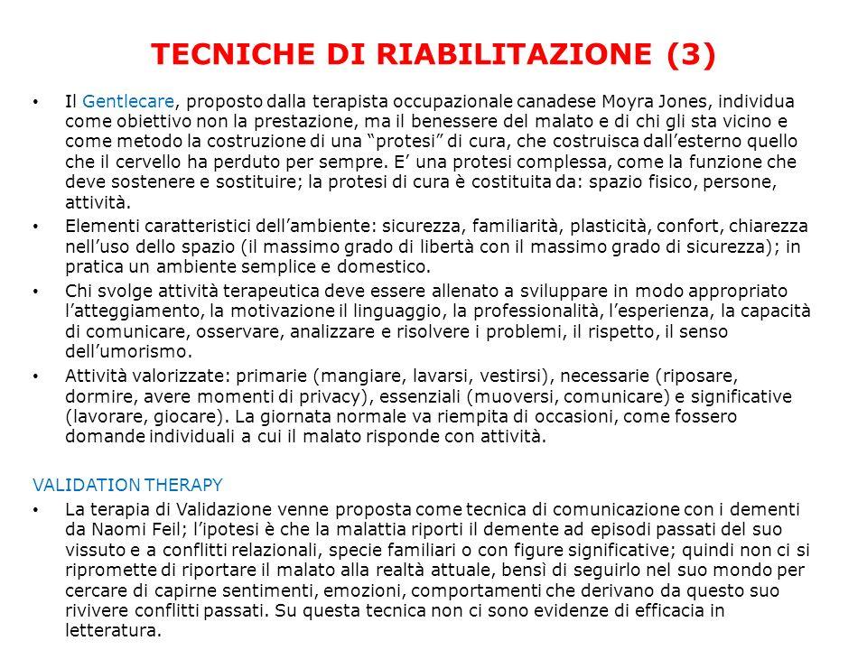 TECNICHE DI RIABILITAZIONE (3)