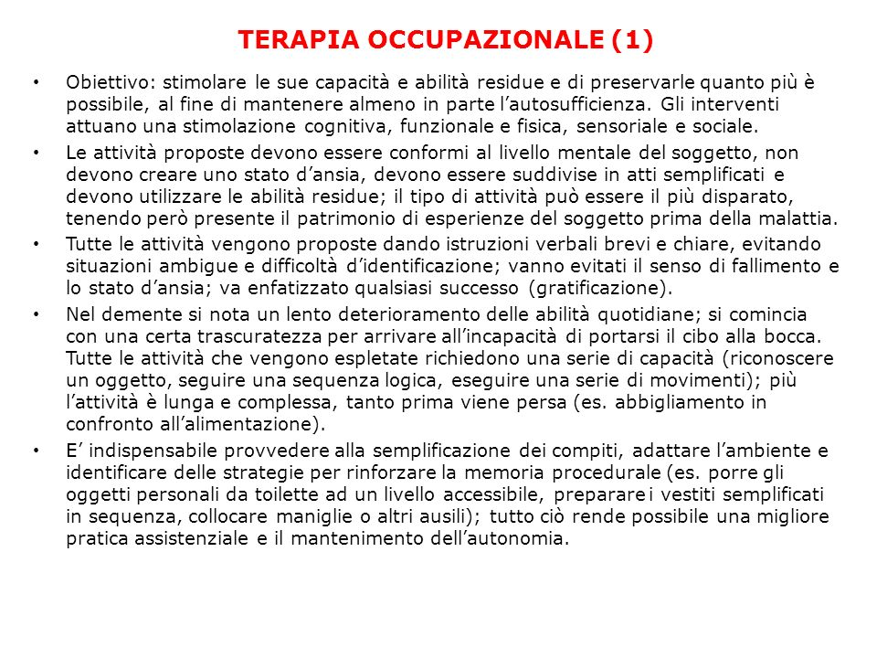 TERAPIA OCCUPAZIONALE (1)