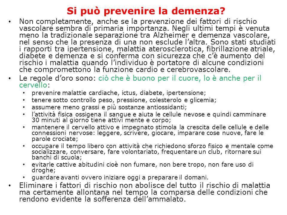 Si può prevenire la demenza