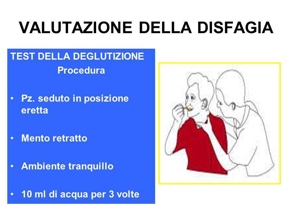 VALUTAZIONE DELLA DISFAGIA