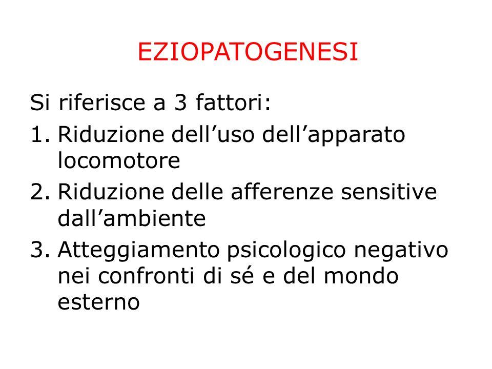 EZIOPATOGENESI Si riferisce a 3 fattori: