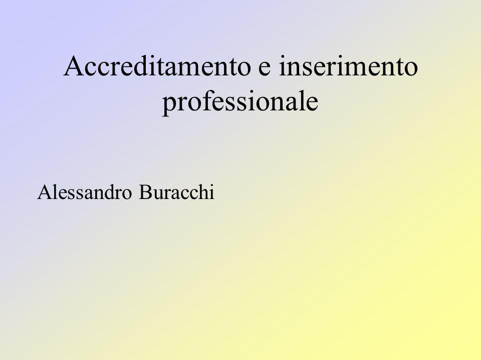Accreditamento e inserimento professionale