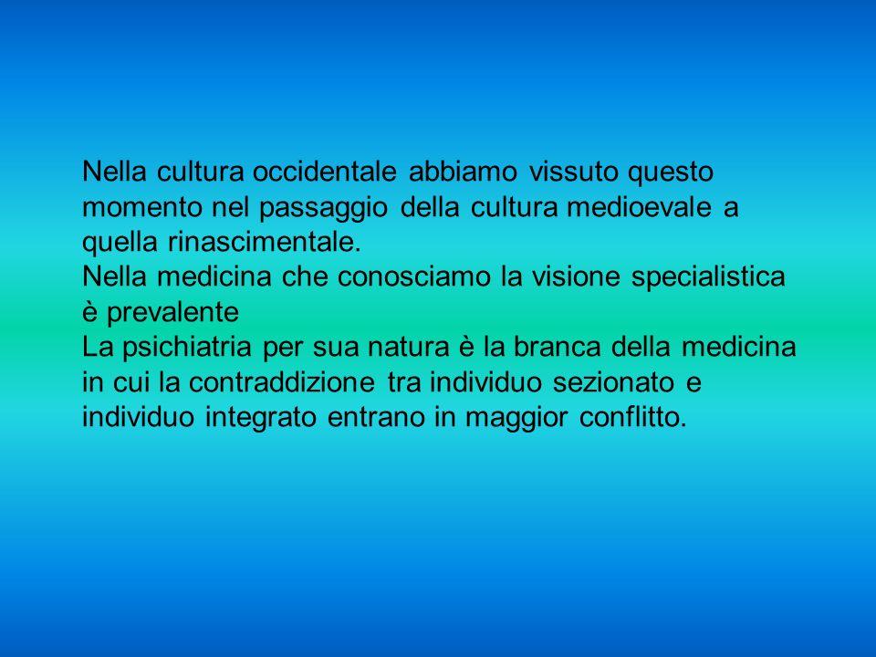 Nella cultura occidentale abbiamo vissuto questo momento nel passaggio della cultura medioevale a quella rinascimentale.