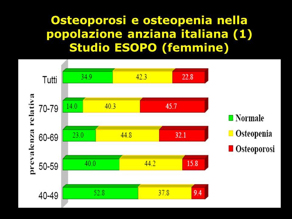 Osteoporosi e osteopenia nella popolazione anziana italiana (1)