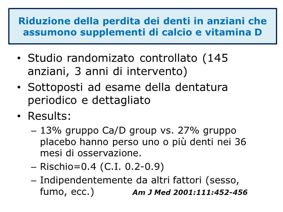 Studio randomizato controllato (145 anziani, 3 anni di intervento)