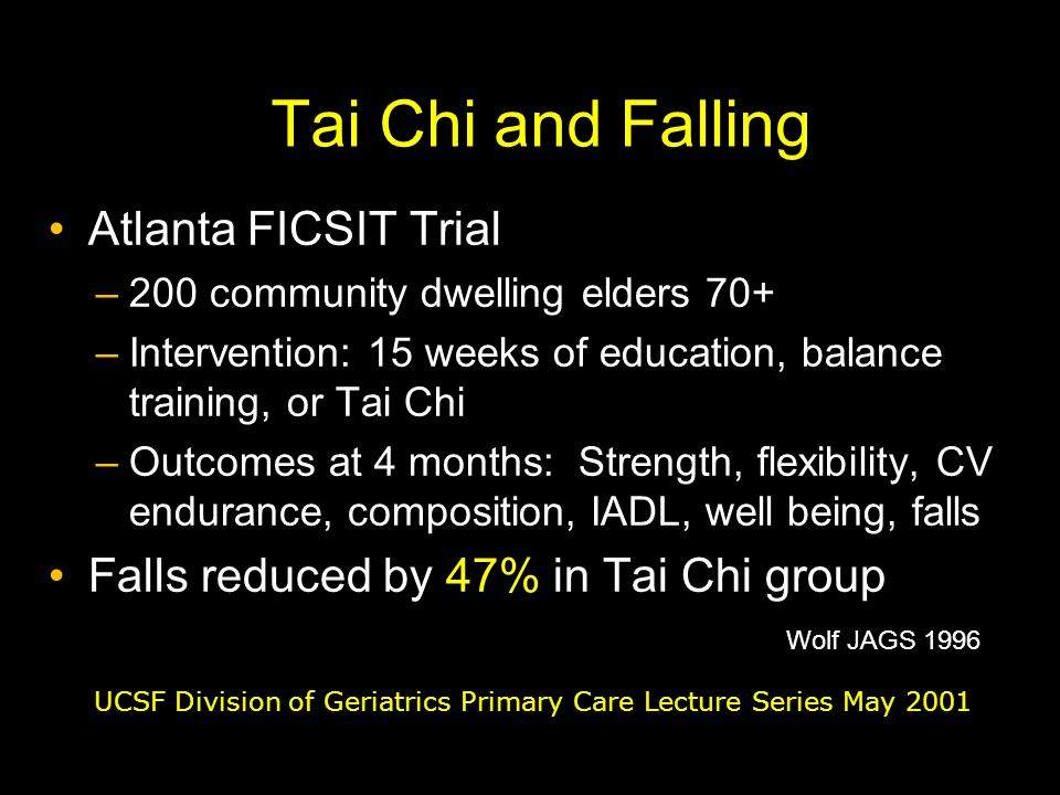 Tai Chi and Falling Atlanta FICSIT Trial
