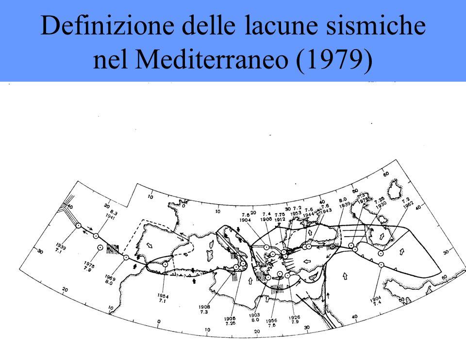 Definizione delle lacune sismiche nel Mediterraneo (1979)