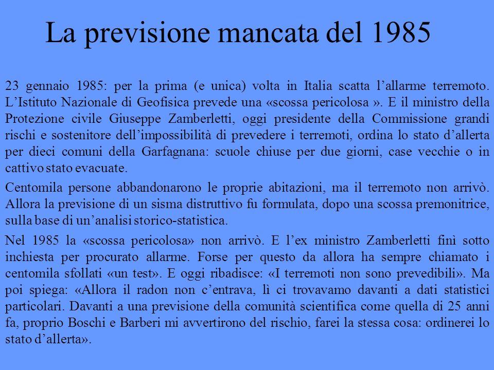 La previsione mancata del 1985