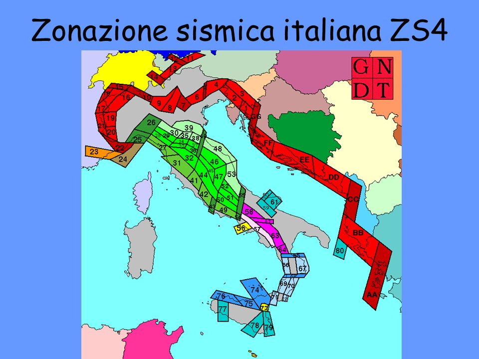 Zonazione sismica italiana ZS4