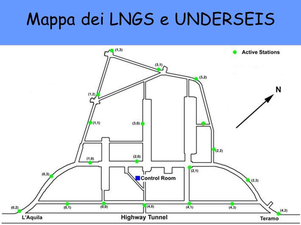Mappa dei LNGS e UNDERSEIS