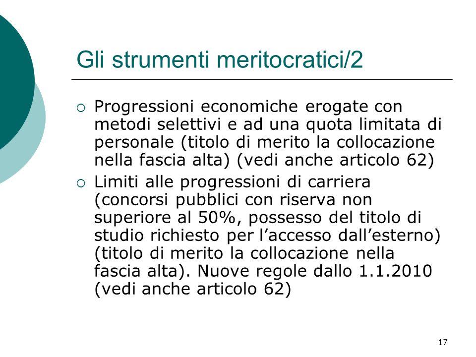 Gli strumenti meritocratici/2