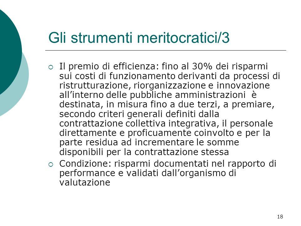 Gli strumenti meritocratici/3