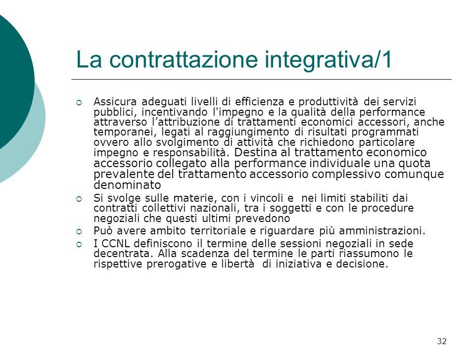La contrattazione integrativa/1