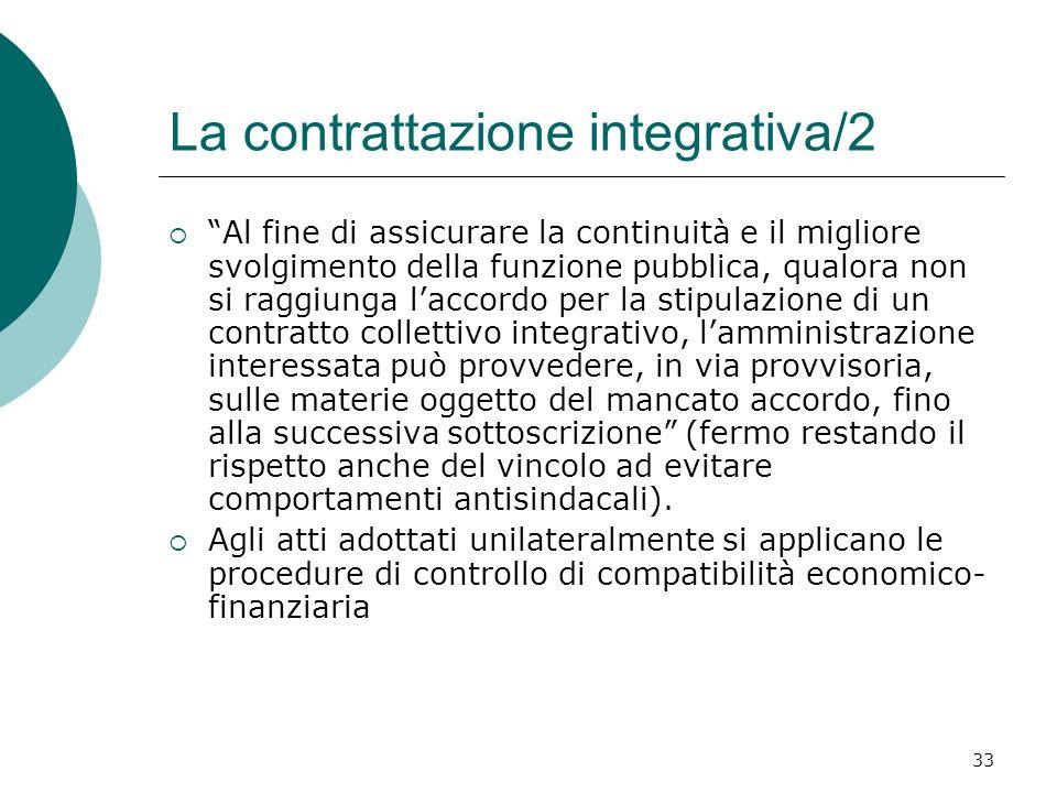 La contrattazione integrativa/2