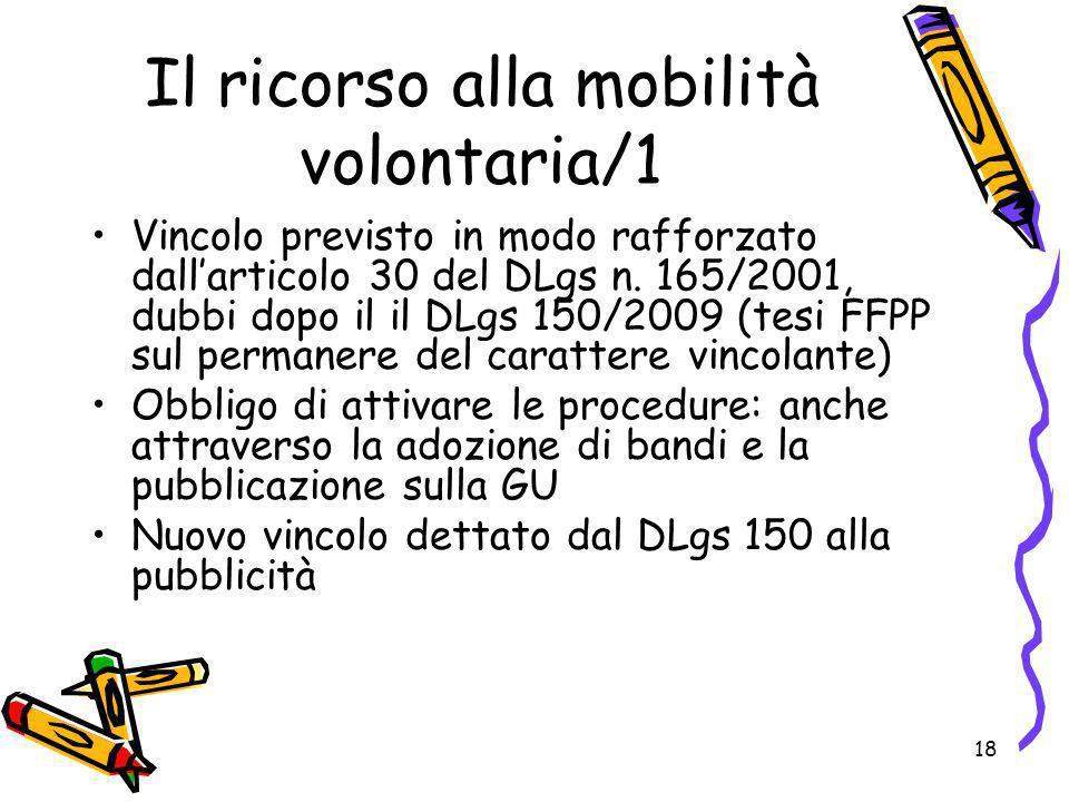 Il ricorso alla mobilità volontaria/1