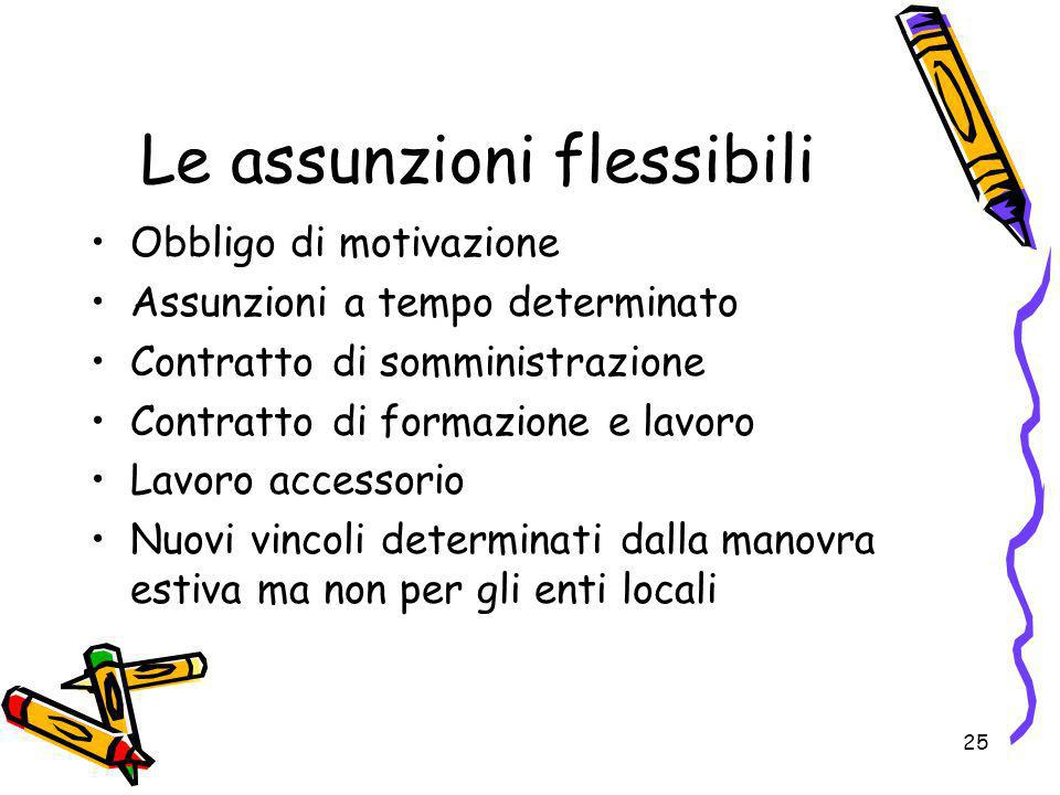 Le assunzioni flessibili