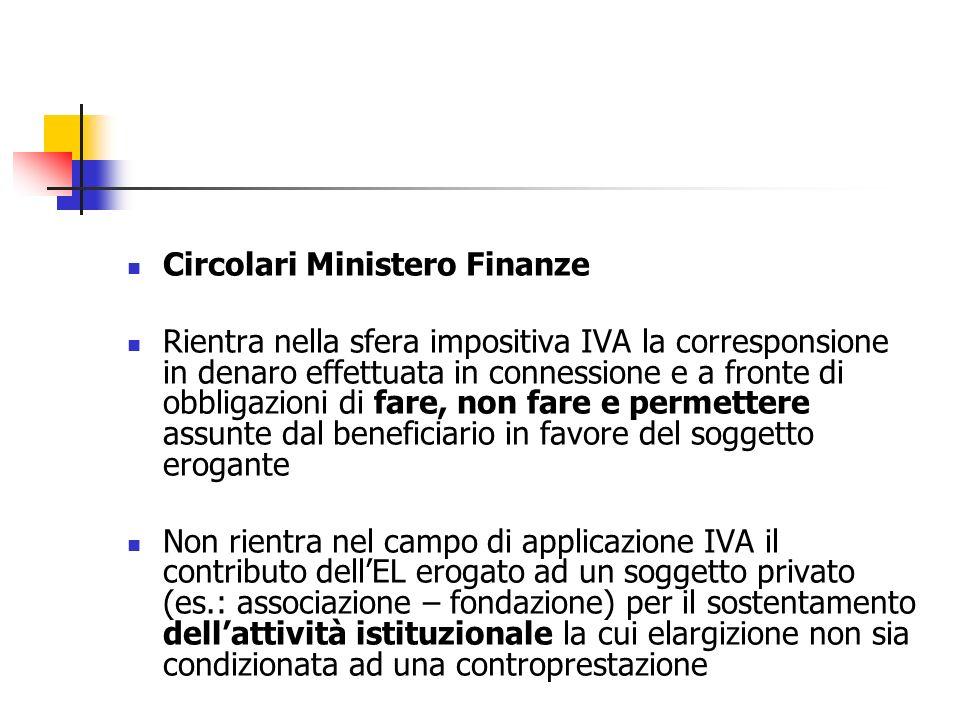 Circolari Ministero Finanze