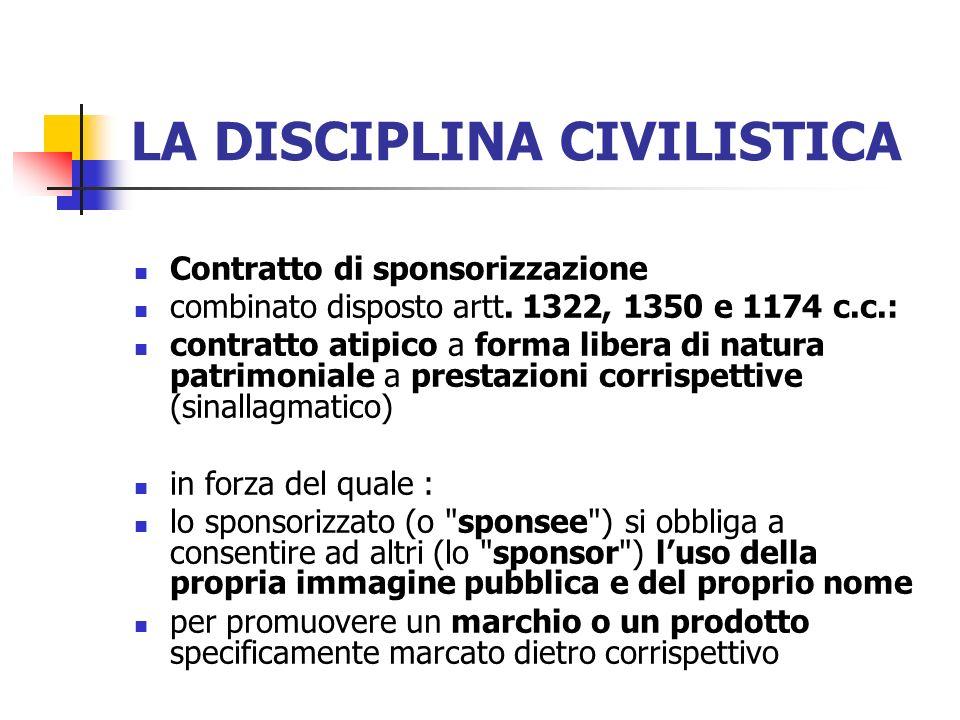 LA DISCIPLINA CIVILISTICA