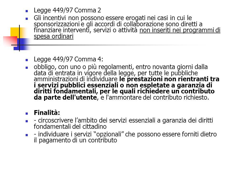 Legge 449/97 Comma 2