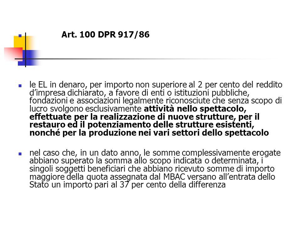 Art. 100 DPR 917/86