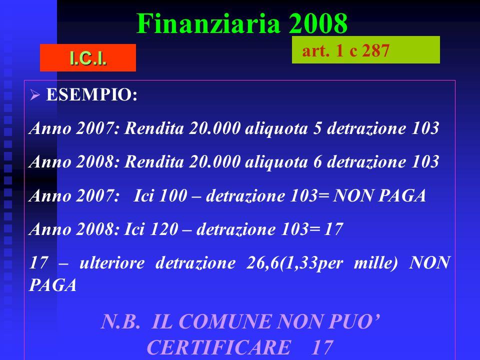 N.B. IL COMUNE NON PUO' CERTIFICARE 17