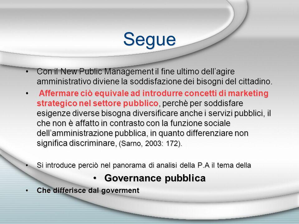 Segue Governance pubblica