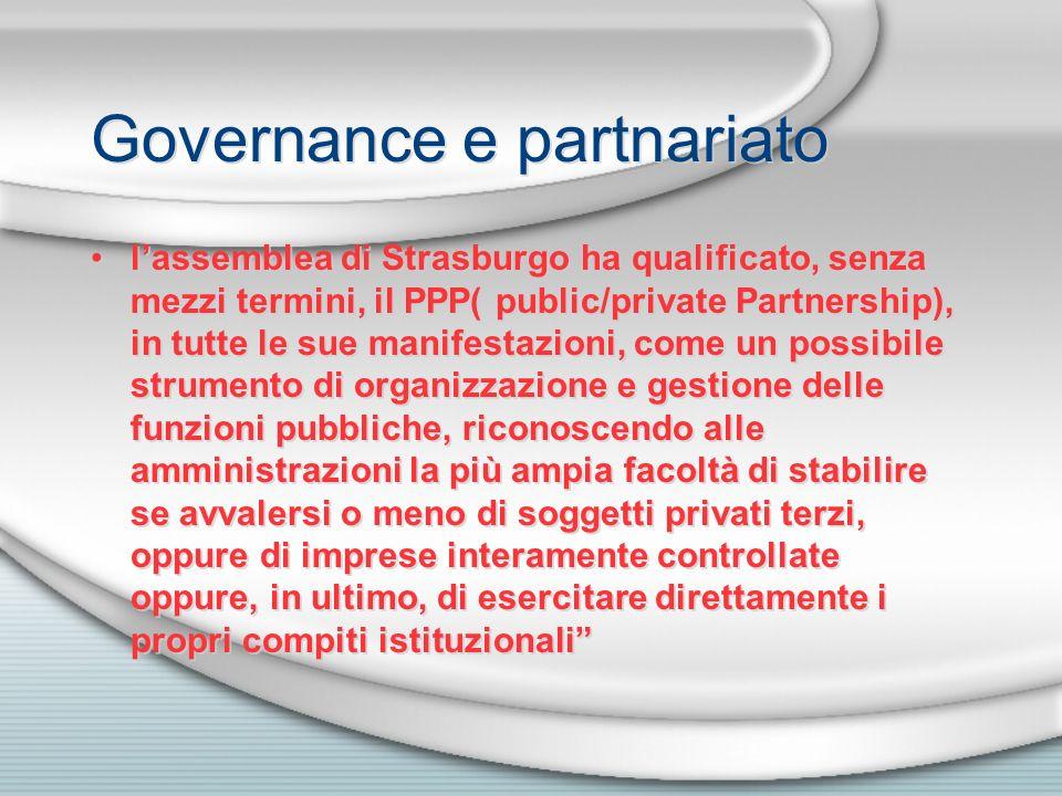 Governance e partnariato