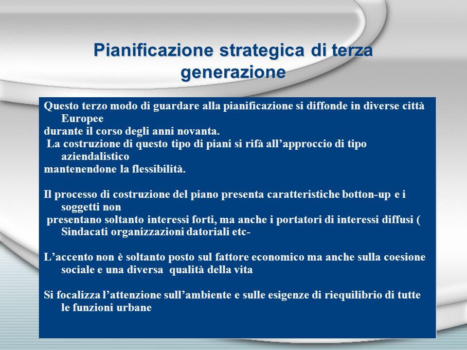 Pianificazione strategica di terza generazione