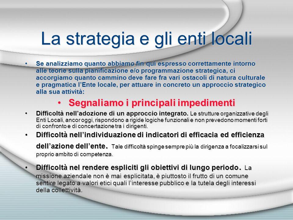 La strategia e gli enti locali