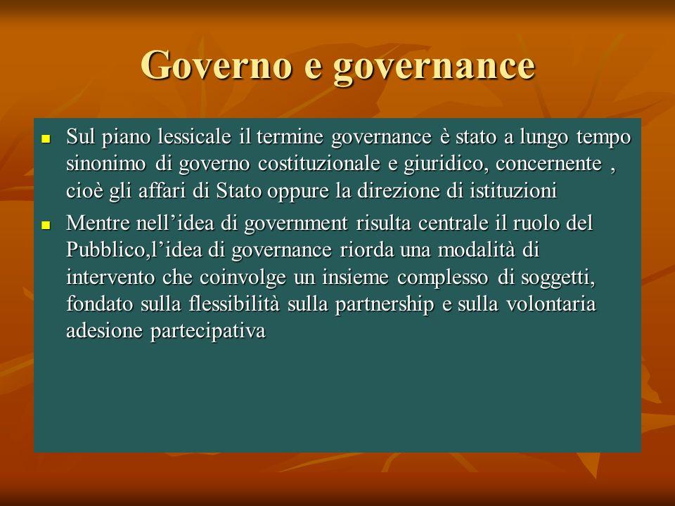 Governo e governance