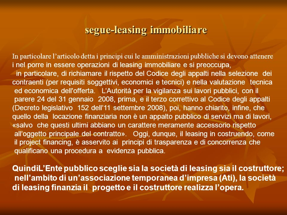 segue-leasing immobiliare
