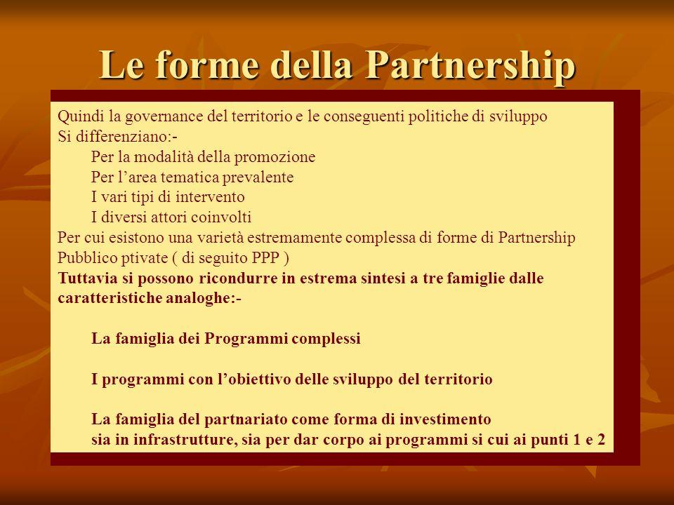 Le forme della Partnership