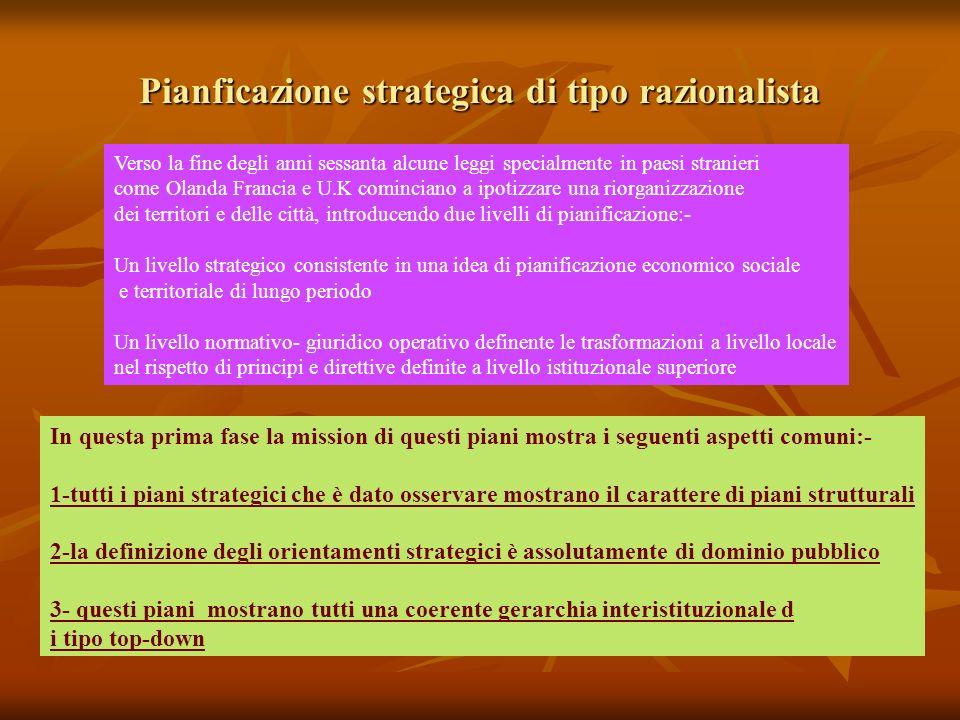 Pianficazione strategica di tipo razionalista