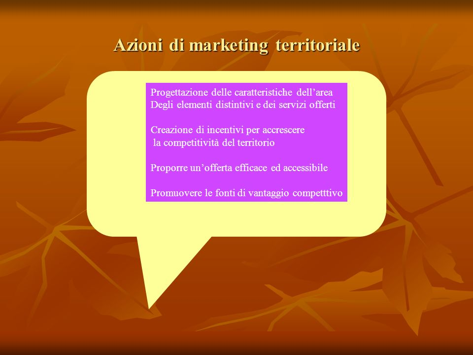 Azioni di marketing territoriale
