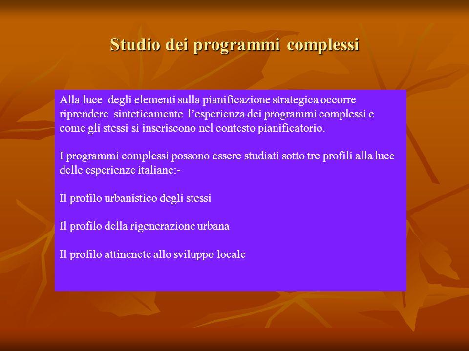 Studio dei programmi complessi