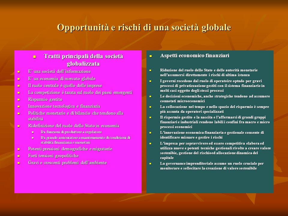 Opportunità e rischi di una società globale