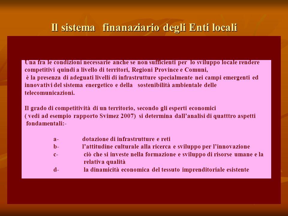Il sistema finanaziario degli Enti locali