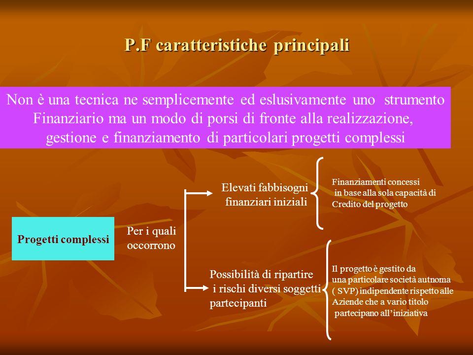 P.F caratteristiche principali